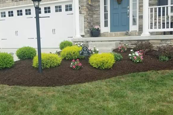 Spring time mulch refreshing at a home in Canonsburg, PA.